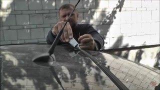 Как приклеить уплотнитель заднего стекла Авео