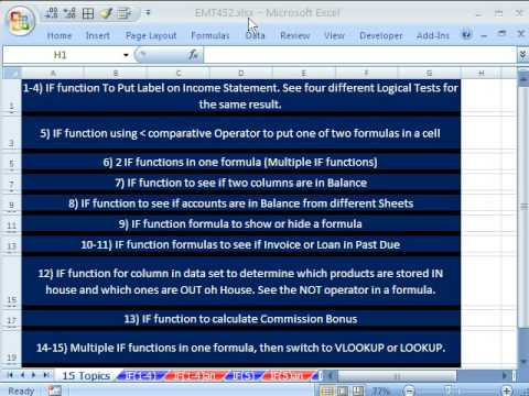 Excel Magic Trick 452: IF Function Formula 16 Examples