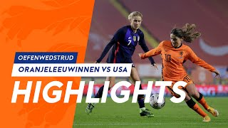 Highlights OranjeLeeuwinnen - USA (27/11/2020)