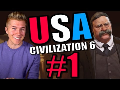 Civilization 6 Gameplay [Civ 6 America Let's Play] USA - Part 1 | Full Leader Playthrough!