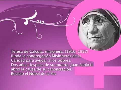 Día Internacional De La Mujer Teresa De Calcuta