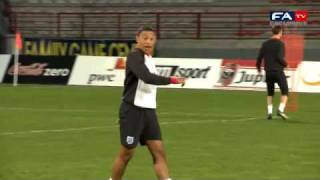 Alex oxlade-chamberlain training goals | belgium u21 vs england u21 14/11/11