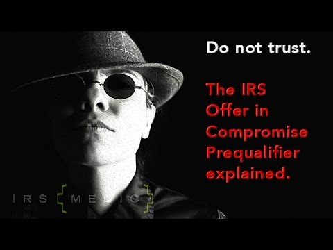 Irs Offer In Compromise Pre Qualifier Youtube