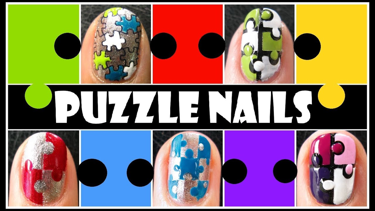 5 ways to create puzzle nails easy how to taped konad stamping 5 ways to create puzzle nails easy how to taped konad stamping nail art design tutorial short youtube prinsesfo Image collections