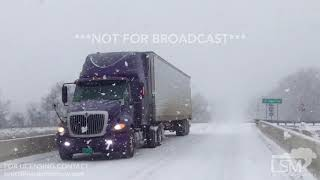 1-12-18 Braden, Tennessee Heavy Snow - I40 Accident