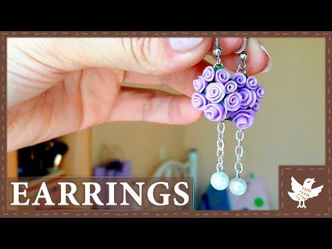 Easy DIY    Rose Earrings    Polymer Clay Tutorial