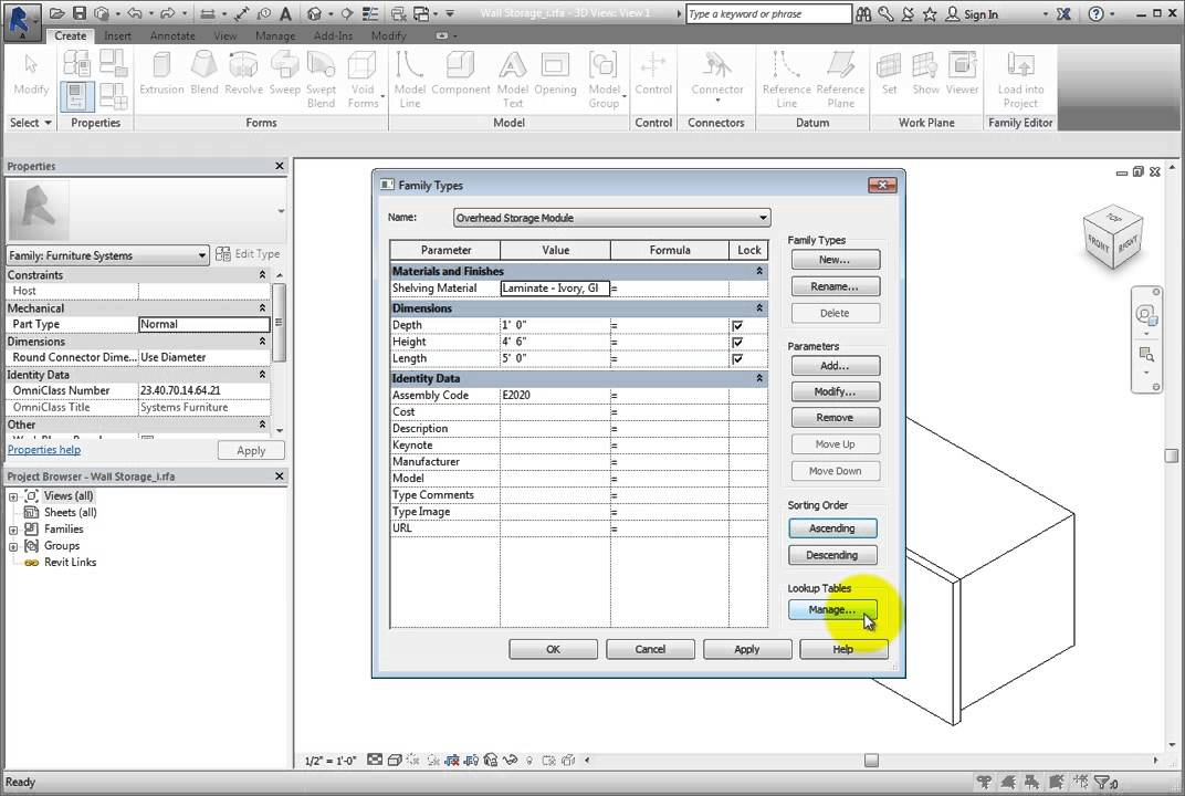Creating and Grouping Family Parameters