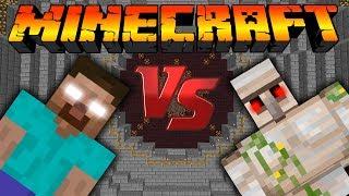 Херобрин VS Железный голем:Битва мобов в Minecraft [Minecraft Mob Battle]