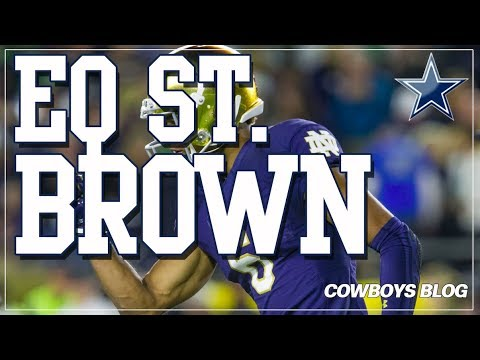 Dallas Cowboys Possible Draft Pick Equanimeous St. Brown, WR, Notre Dame   Top NFL Draft WRs