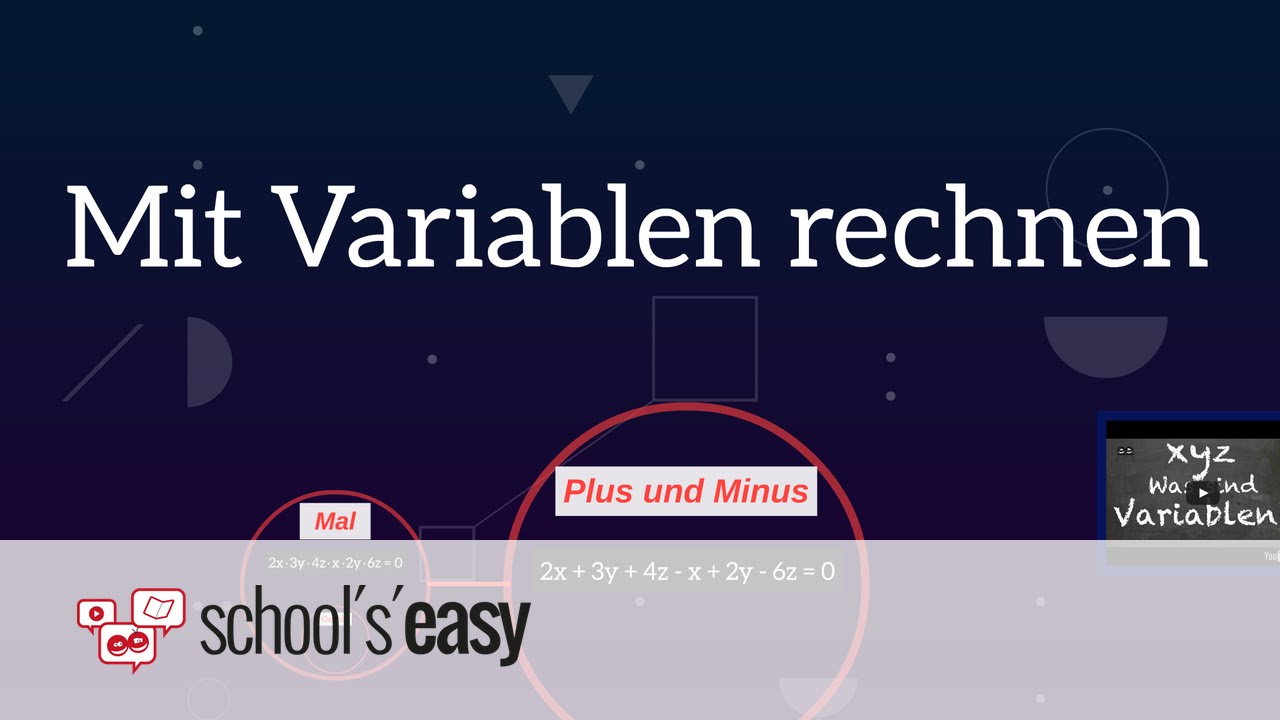 Download Mit Variablen rechnen - Plus, Minus, Mal und Geteilt