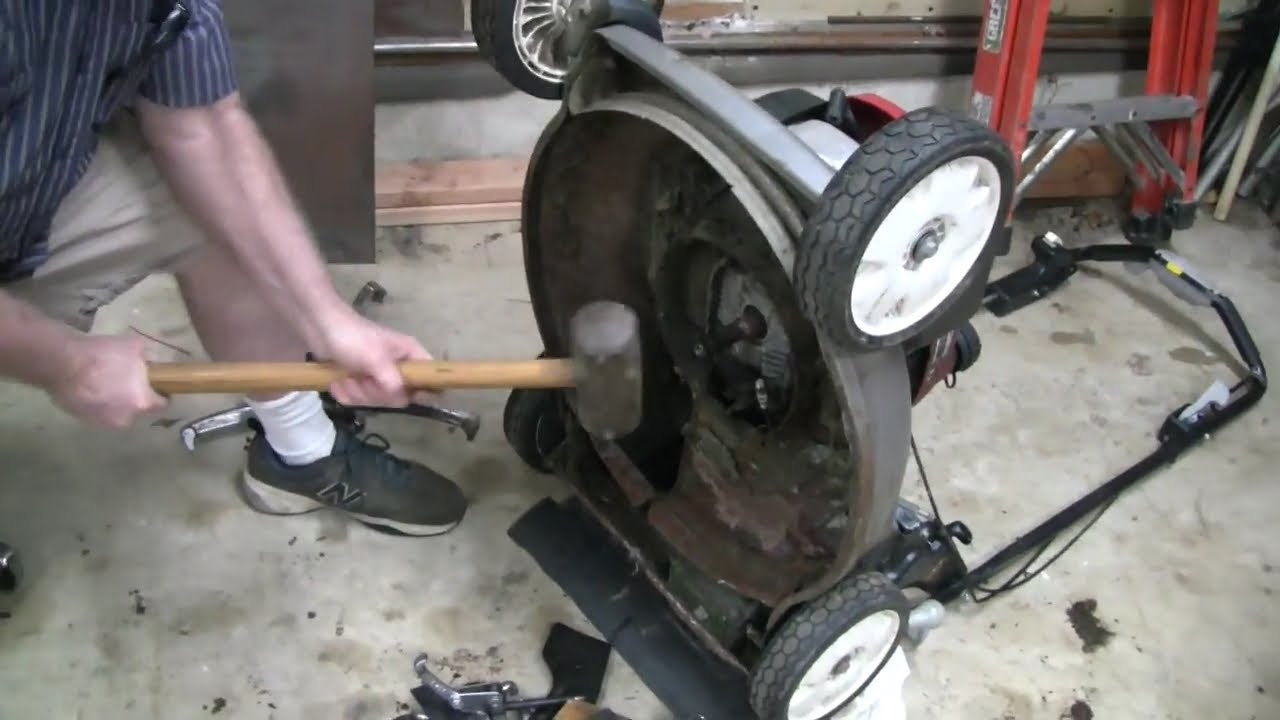 Straightening Bent Crankshaft On A Lawnmower