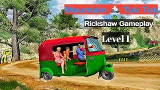 Gameplay Mountain Auto Tuk Tuk Rickshaw : New Games Level1 screenshot 3