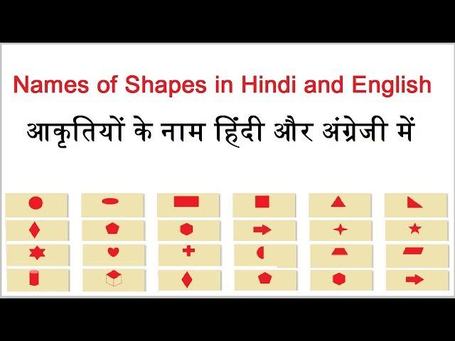 Shapes Name for Kids | आकृतियों के नाम | Shapes