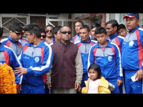 Nepal Blind Cricket team   Farewell to play T20 WORLD CUP for blind   India