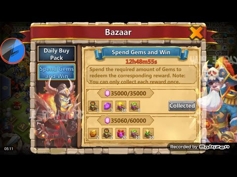 Castle Clash Bazaar Events & Warehouse Items
