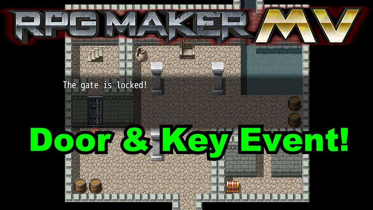 Rpg Maker Mv Simple Door Amp Key Event Tutorial Youtube