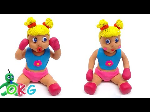 Barbie Baby Activities Learning Play Doh Video Kids Stop Motion Movie