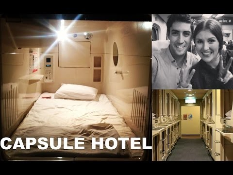 Capsule Hotel fun review Osaka, Japan trip - Asahi Plaza