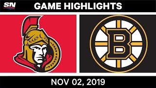NHL Highlights   Senators vs Bruins – Nov. 2, 2019