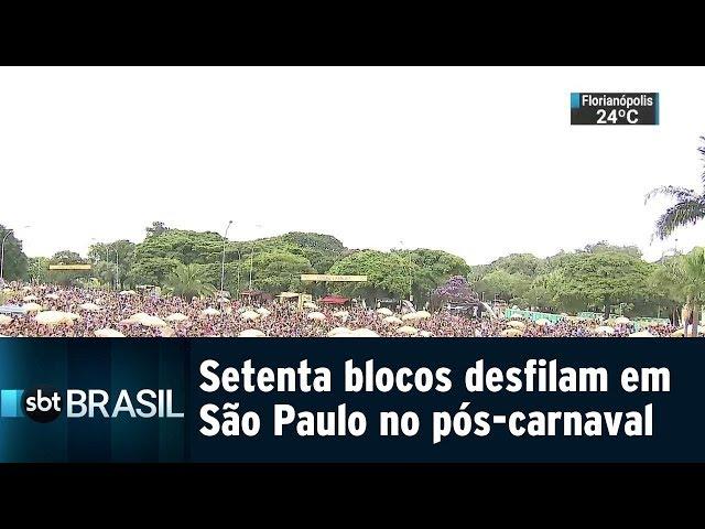 Setenta blocos desfilam em São Paulo no pós-carnaval | SBT Brasil (09/03/19)