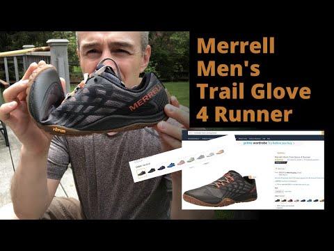 Minimalist Running Shoe Review Unpackaging Merrell Men's Trail Glove 4 Runner #MinimalistRunner