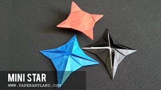 How to make an ORIGAMI for KIDS -  paper shuriken that FLIES | Mini Star