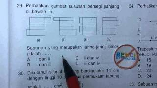 Prediksi Ujian nasional SMP 2016-Jaring jaring Balok#29