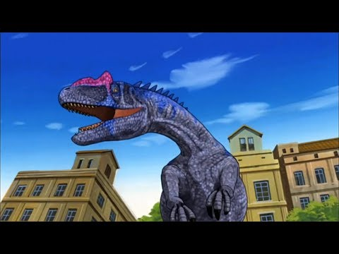 Dinosaur King Battle Against Allosaurus