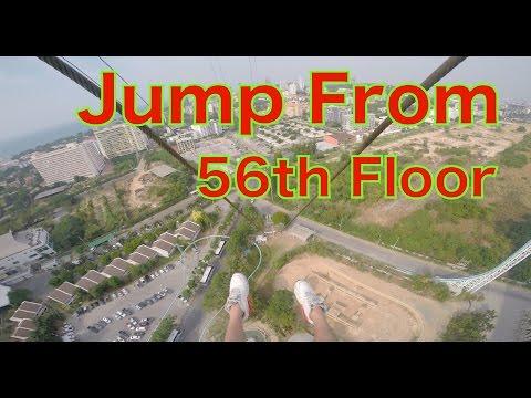 GoPro: Jump From 56th Floor - Pattaya Park Tower