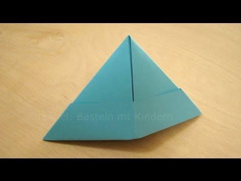 papierhut falten papier falten zum hut origami hut einfach selber basteln youtube. Black Bedroom Furniture Sets. Home Design Ideas