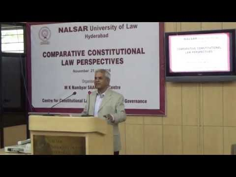 National Constitutions and globalizing Legal Order | Prof. M.P. Singh | Nalsar University