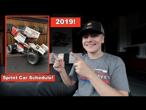 My 2019 Sprint Car Schedule!
