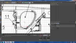 CINEMA 4D урок-1 СОЗДАНИЕ Устройство тележки грузового вагона