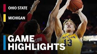 Highlights: Ohio State at Michigan   Big Ten Basketball