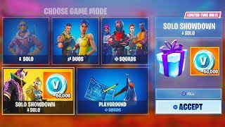 "*NEW* 50,000 V-Bucks GAMEMODE in Fortnite! - NEW ""Solo Showdown"" REWARD LTM Gamemode GAMEPLAY!"
