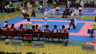 2018IH 空手道 男子 団体組手1回戦 御殿場西(静岡県) 対 青森明の星(青森県)