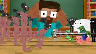 Monster School : TINY SIREN HEAD APOCALYPSE   Minecraft Animation