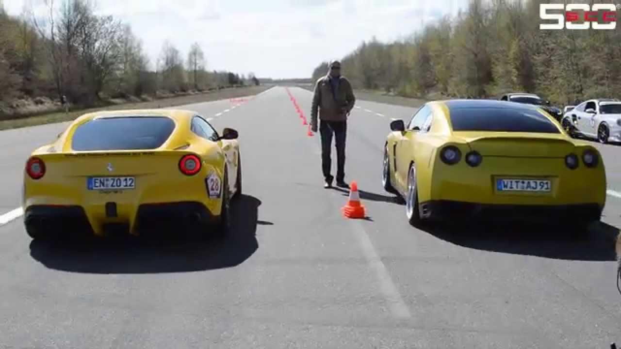 Ferrari F12 Vs Nissan Gtr