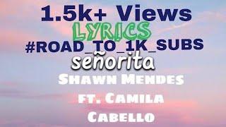 Senorita (Lyrics) || Shawn Mendes ft. Camila Cabello || Lyrical Cover Video