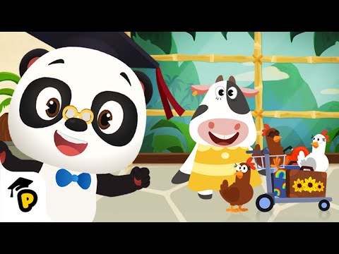 NEW - Moo's arrived at Banana Island airport, help locate her bags! | Kids love Dr. Panda TotoTime