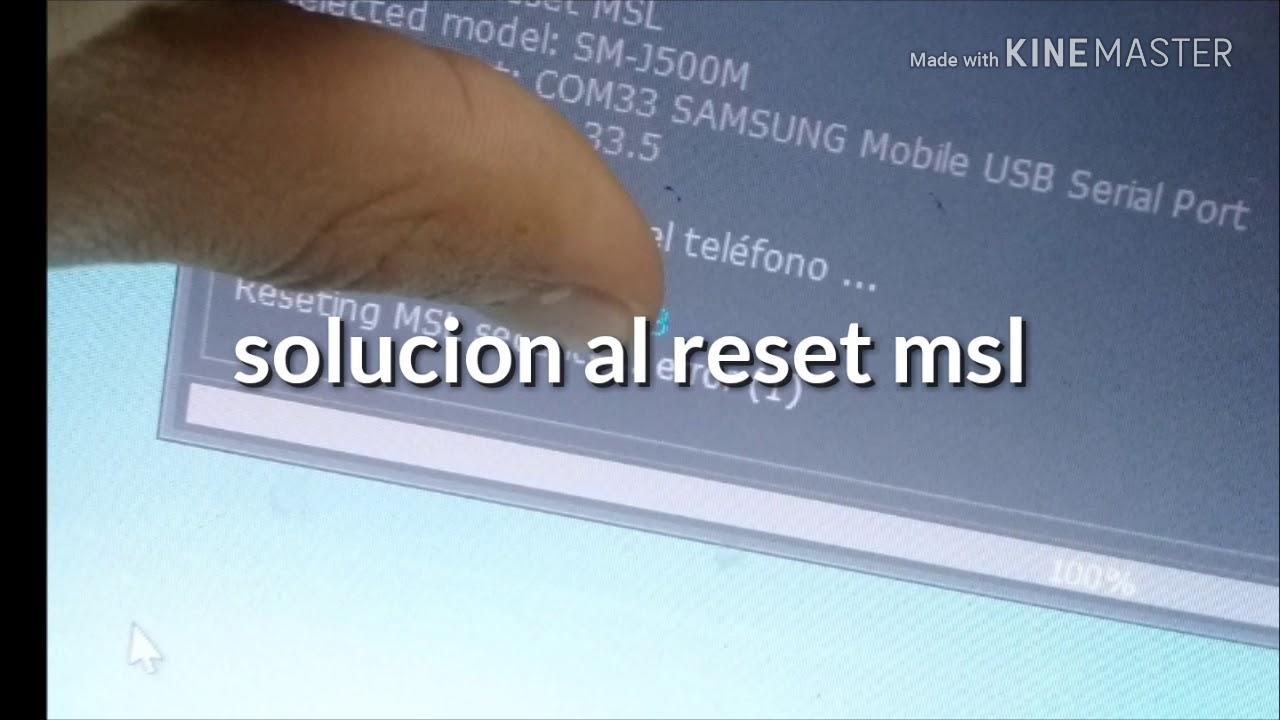 Error reset msl j500m 100%