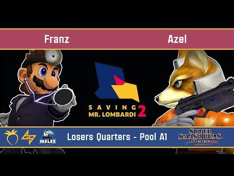 Saving Mr. Lombardi 2 - Franz (Doctor Mario) VS Azel (Fox) - SSBM - Losers Quarters (Pool A1)