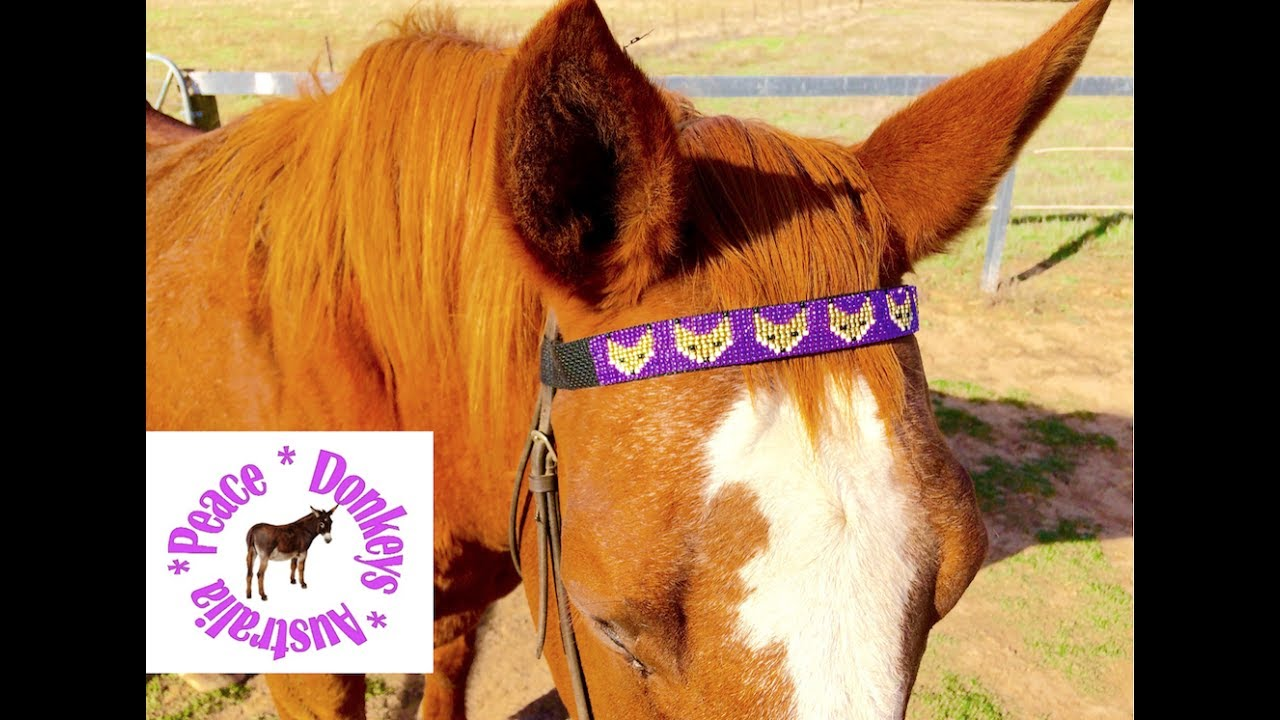 How To Make A Beaded Horse Browband With Fox Pattern
