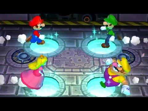 Mario Party 9 - Minigames (2 Players) - Mario vs Luigi vs Peach vs Wario
