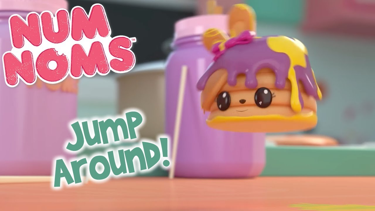 Jump Around! | Num Noms | Snackables Cartoon Compilation for Kids