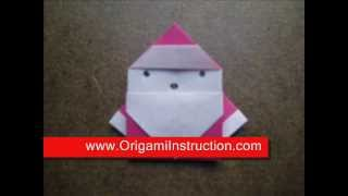 How To Make An Origami Easy Santa