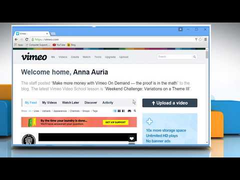 How to change your Vimeo® account password