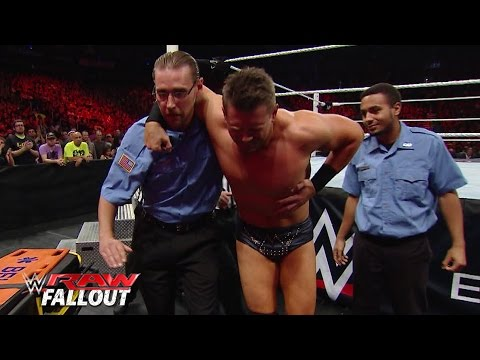 The Miz gets injured on Raw: Raw Fallout, July 20, 2015