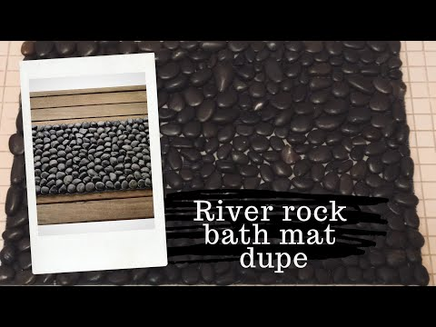 Look What I Did With Dollar Tree River Rocks | Bath Mat Dupe From Amazon