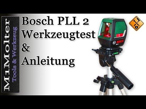 PLL 2 Bosch Bedienung und Funktionen des Kreuzlinienlasers von M1Molter